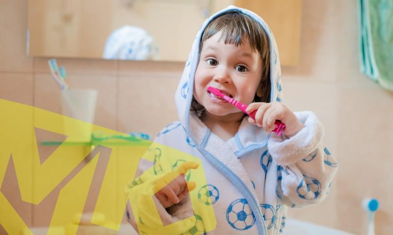 Kids' oral hygiene routine
